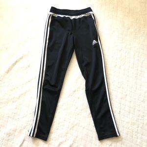 Adidas joggers black & white/ girls med